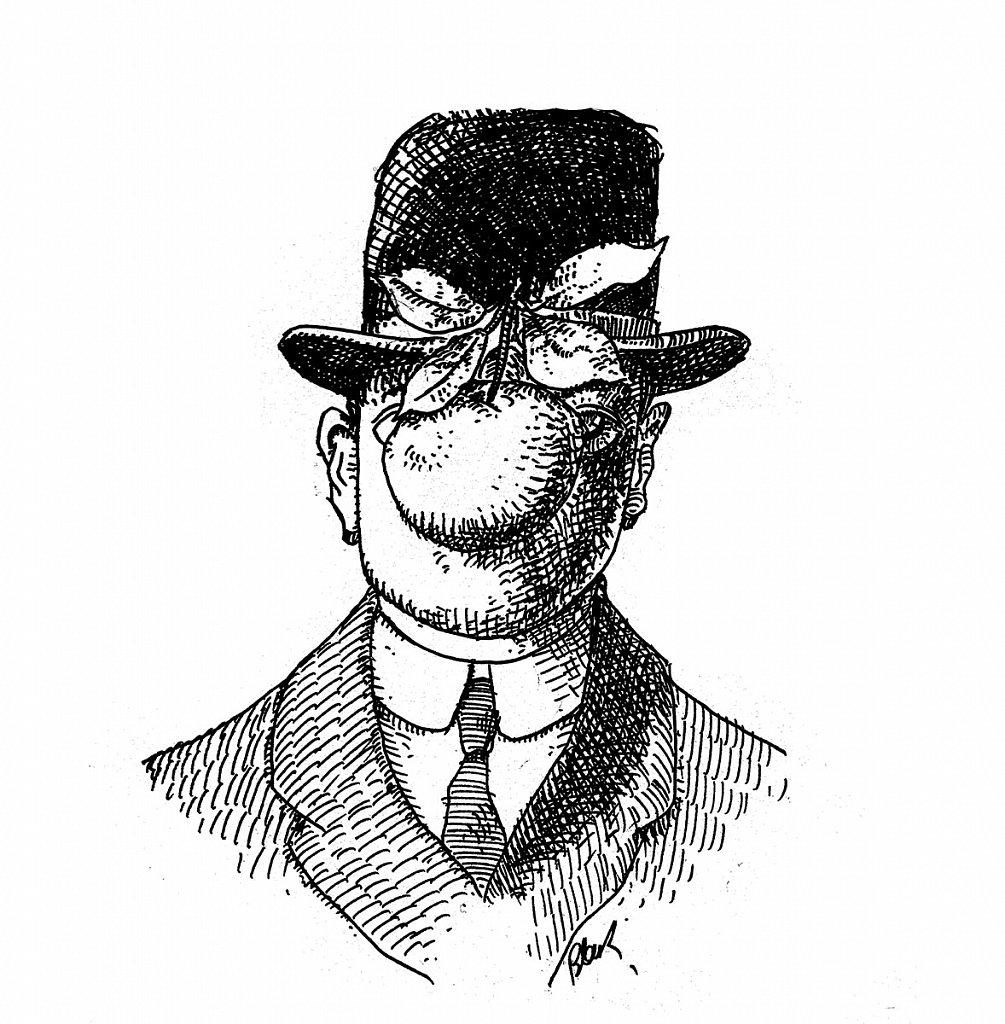 """""""Le fils de l'homme""""   Magritte"""
